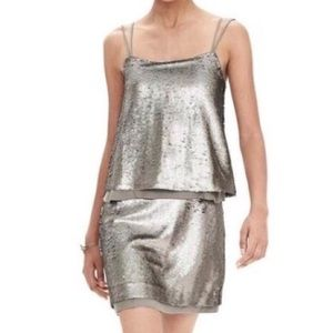 "Banana Republic 2P ""Sequin Double"" Mini Dress NWT"
